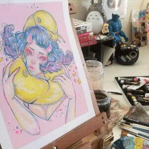 Absolute Ama HERO Artwork of Dreamy Slug Girl